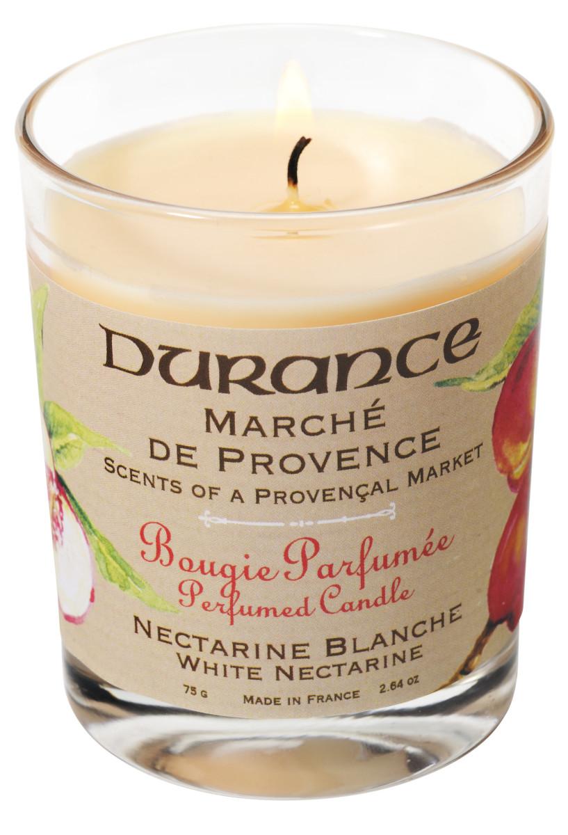 Durance mirisna svijeća bijela nektarina