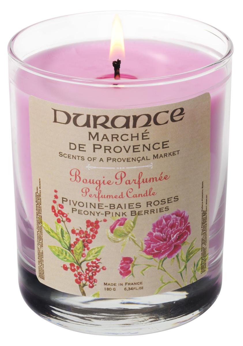 Durance mirisna svijeća božur - ružičasta borovnica