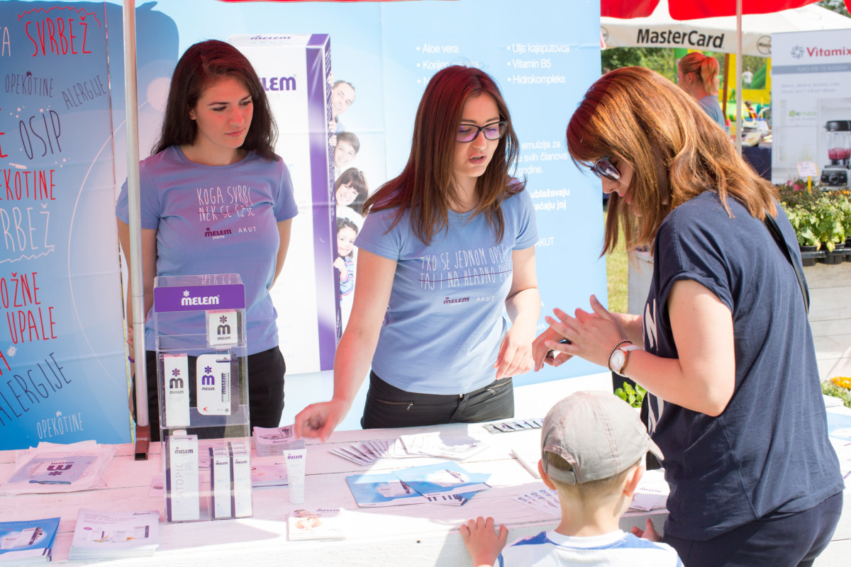 Na Melemovom štandu, posjetitelji su se mogli educirati o zaštiti kože ljeti i njhovim novim proizvodima