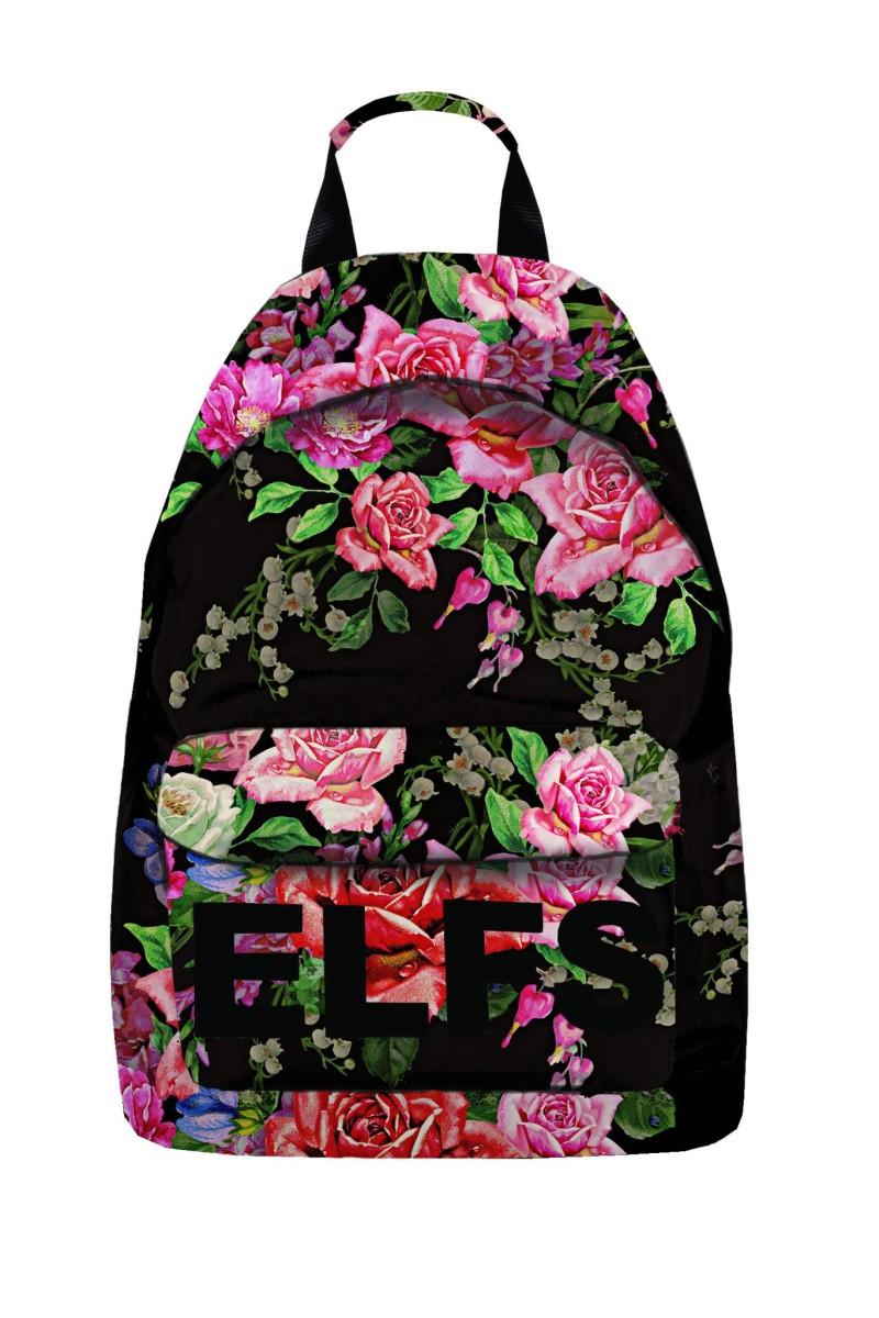 ELFS ruksak Cvijeće black