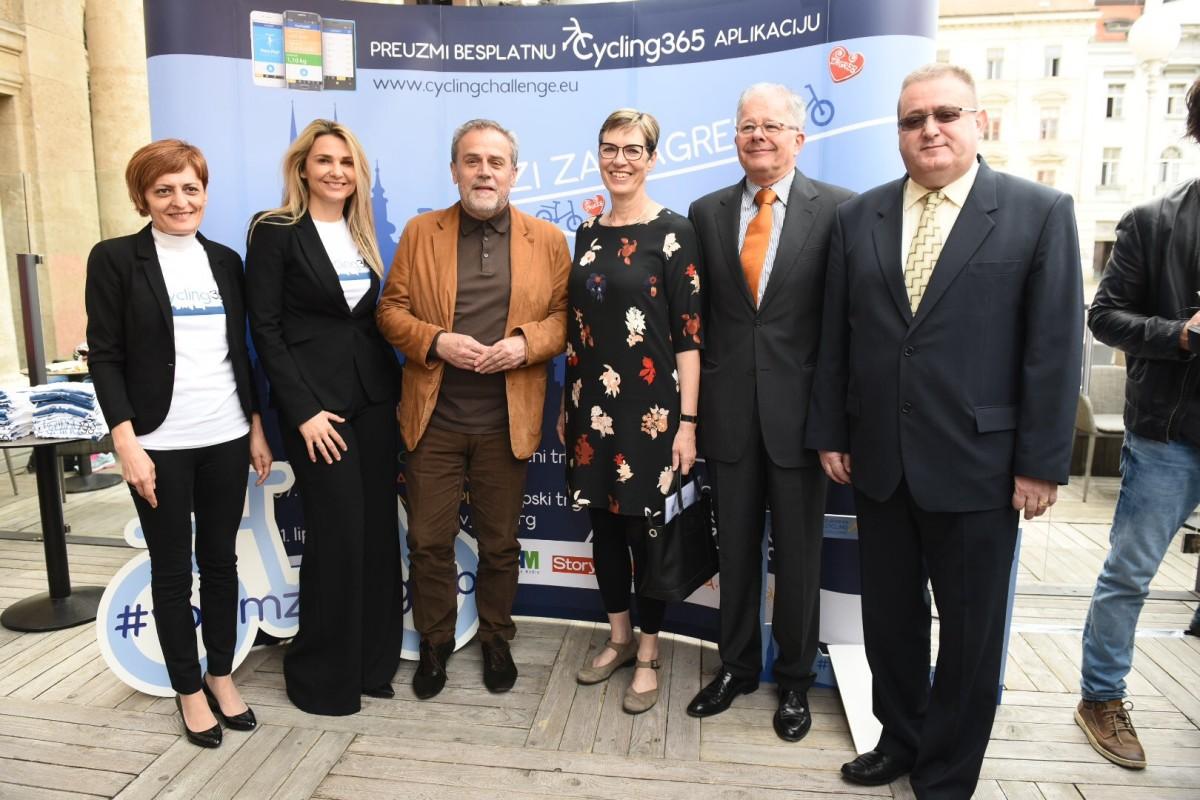 Darinka Jug, Ivona Čulo, Milan Bandić, Ellen Berends, Branko Baričević i Dubravko Teur predstavili su projekt Europski biciklistički izazov 2016.