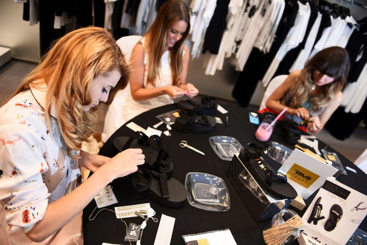 Ella Dvornik, Andrea Andrassy, Ana Bacinger_TEVA DIY radionica_XYZ Premium Fashion Store