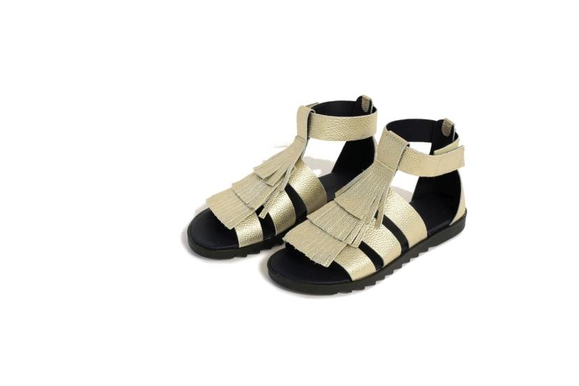 Guliver_gladijator sandale_zlatne_pocetna cijena 620,00 kn_snizena 390,00 kn