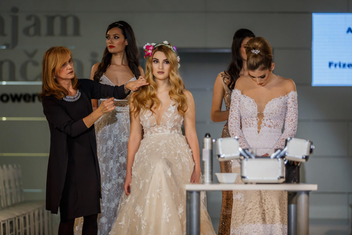 Jadranka Tukić, frizerski salon Dalila koji je bio zadužen za frizure modela na Sajmu vjenčanja Split