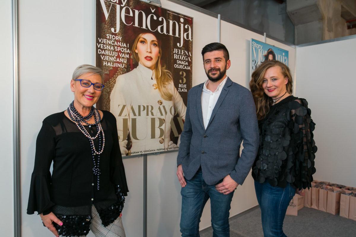 Neda Makjanić-Kunić (modna kuća MAK), Jurica Pirić (Arileo) i Sandra Ledenko (Cipele Ledenko)
