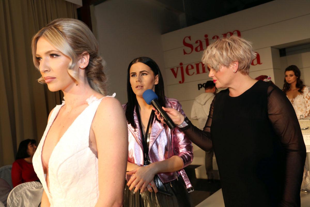 Voditeljica Tihana Tomljanovic i sluzbeni frizer Sajma vjencanja Studio Mirror