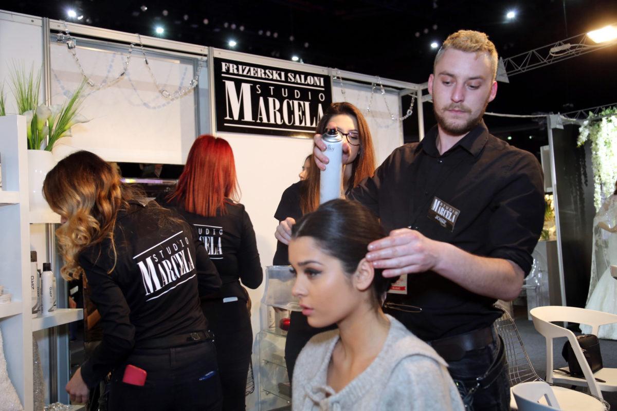 Stručni tim stislista za kosu Studia Marcela bio je zadužen za frizure modela