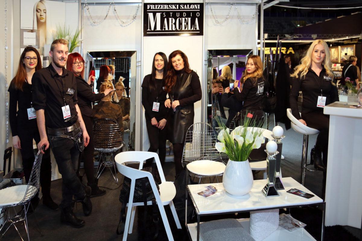 Vlasnica salona Studio Marcela Jadranka Pezo sa svojim timom