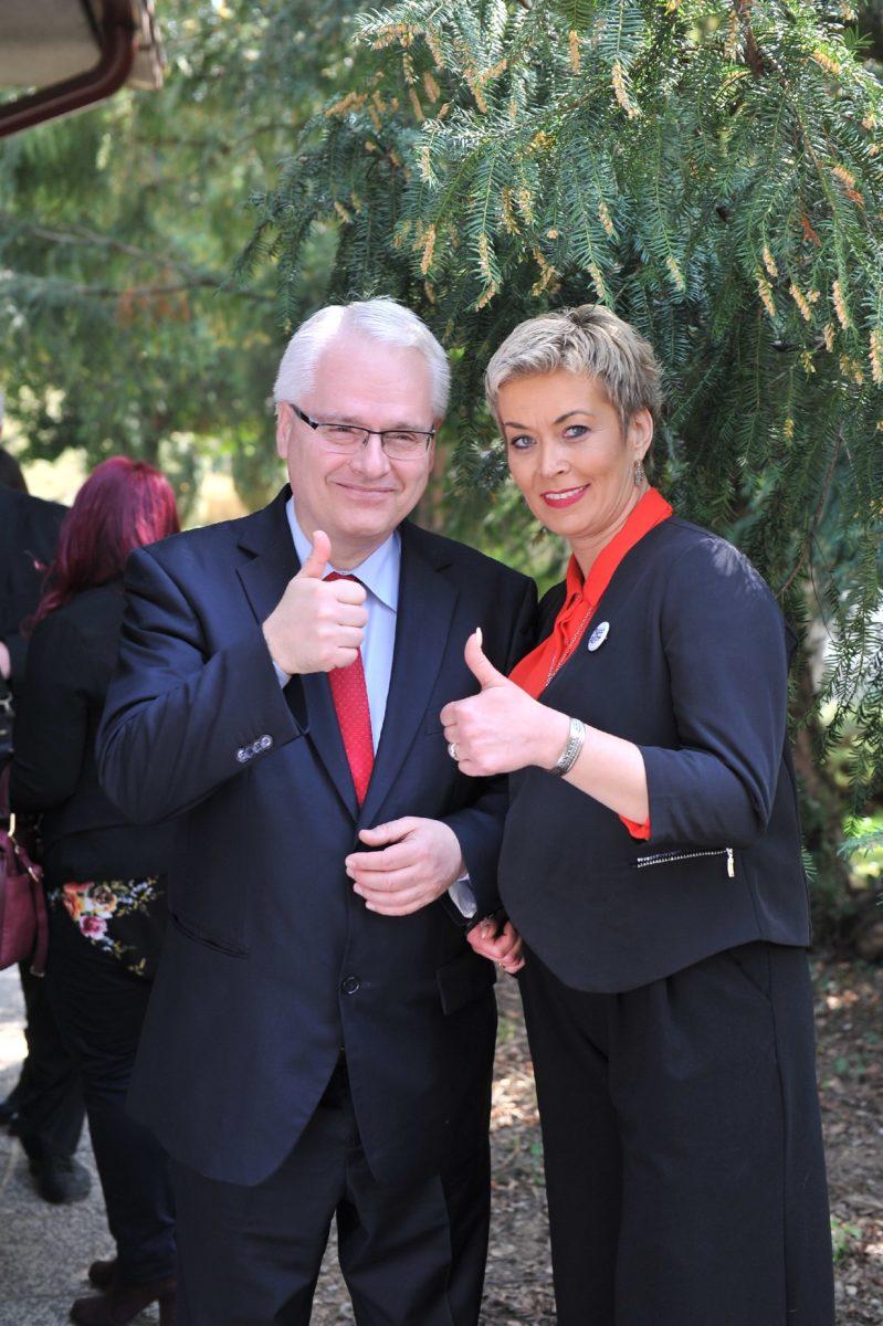 Zeljka Vučko, predsjednica kluba roditelja Palčići i dr. Ivo Josipović