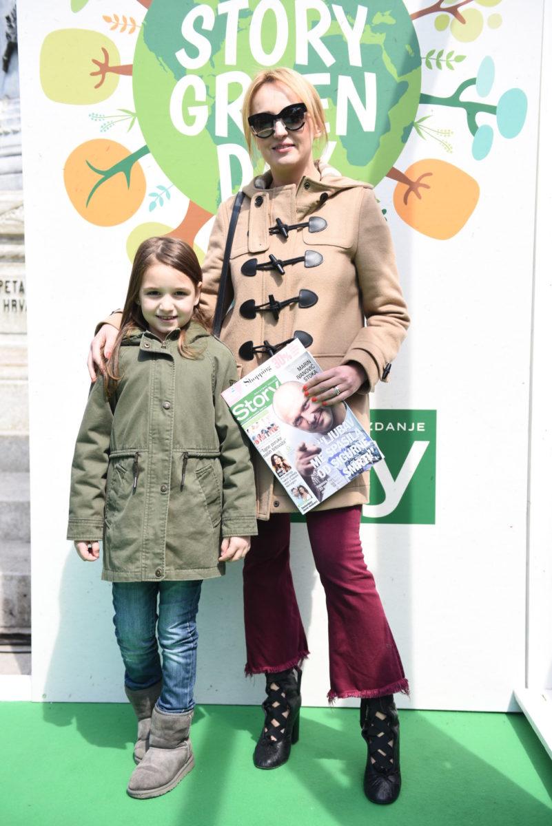 Dizajnerica interijera Mirjana Mikulec s kćerkicom