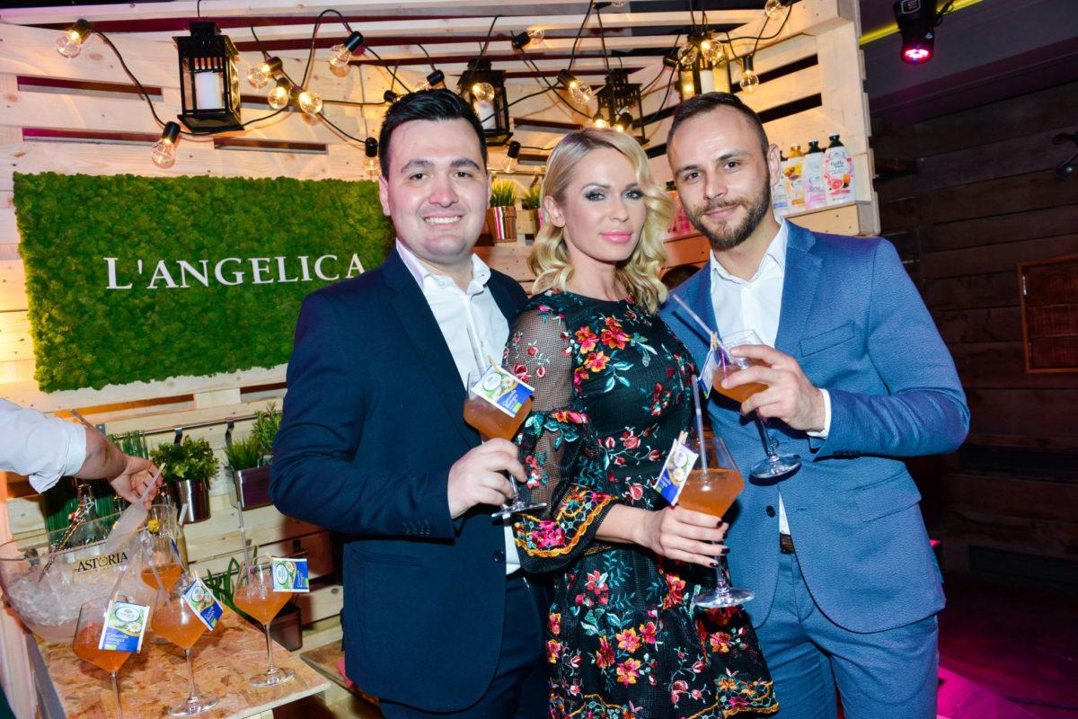 Modni dvojac ELFS, Aleksandar Šekuljica i Ivan Tandarić, i Renata Sopek okrijepili su se uz L'Angelica koktele