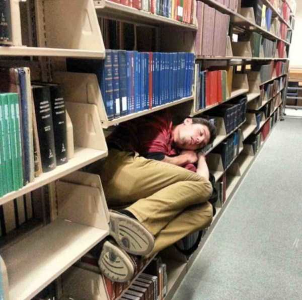 People Can Sleep Anywhere